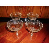4 Antiguas Copas Sidra Champagne Talladas (ángela)