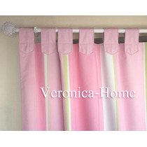 Cortinas Black Out Infantiles Combinadas + Barral Laqueado
