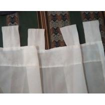 Cortinas Transparentes Tipo Voile, 2 Paños De 1,30 X 2 Aprox
