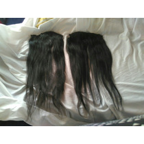 2 Cortinas De Cabello Natural De 70 De Largo