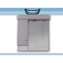 Botiquín Espejo Baño Peinador Blanco Con Luz 60x70 Mod: 756