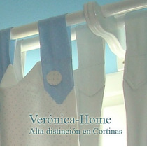 Cortina Infantil + Black Out + Barral Doble Laqueado Blanco