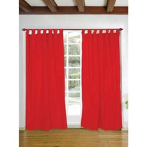 Cortinas Rusticas Color Listas Living Comedor Dormitorio!!