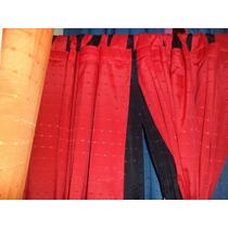 Cortinas 2 Paños- Al Costo!!-tela Rustica Jaquard En Colores