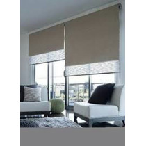 Cortinas Roller Dobles Black Out Y Sun Screen Envio T/pais**