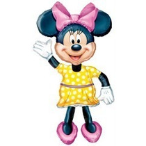 Globo Minnie Mickey Caminante Metalizado Disney Cotillon