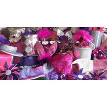 Cotillon Premium Gorros Y Sombreros Fucsia-plateado-violeta