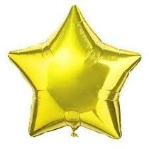 10 Globos Metalizados 45cm Lisos Forma Estrella Cumpleaños