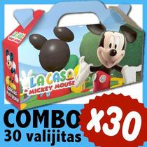 Mickey Cajita Caramelera Valijita Bolsita Souvenir Combo X30