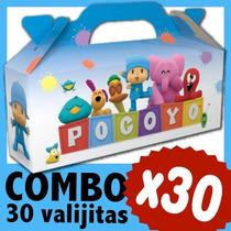 Pocoyo Cajita Valijita Bolsita Souvenir Combo X 30