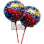 10 Globos Con Varilla/palito 20 Cm Frozen Spiderman Minnie