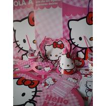 Kitty 25 Chicos Con Centro De Torta Y Regalos
