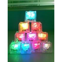 12 Cubitos De Hielo Luminosos A Led Multicolor