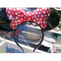 Pack X 6 Vinchas Con Orejitas Para Disfraz De Minnie Mouse