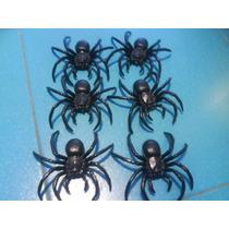 Bolsa Arañas Plasticas X 6 Souvenir Decoracion Halloween