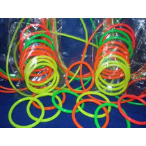Pulseras Fluo Pack X 100 Uni .- Goma Fluorecente - Cotillon