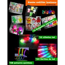 Combo Cotillon Luminoso 98 Articulos