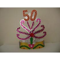 Tiara O Corona De Cotillón Con Número (edad, Aniversario)