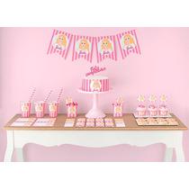Cumpleaños Barbie Kit Deco Impresión Y Recorte