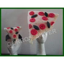 Pizza Gorro Mas 10 Vinchas Cotillon De Goma Espuma