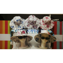 Sombreros Capelinas Floreadas (pack X 2) Excelente!!