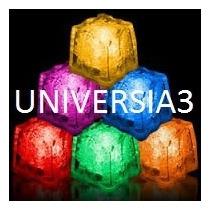 12 Cubitos De Hielo Luminosos Led Multicolor Evento Cotillon