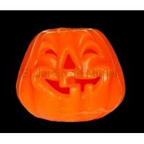 Calabaza Halloween De Parafina 20cm De Diametro