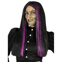 Peluca De Bruja Con Mechas Color Importadas Ideal Halloween
