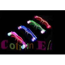 Cotillon. Anteojos Luminosos 2 Leds Mineros . Pack Por 8
