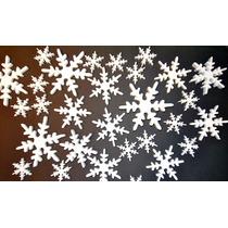 Cotillón Frozen, Copos Nieve, Feliz Cumple, Deco De Tortas
