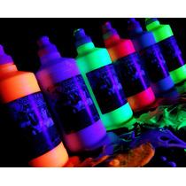 Pack Pintura Liquida Para Rociar, Maquillaje Fluo, Fiesta