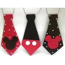 Corbata Y Viseras Mickey O Minnie X 10
