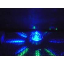 Base Luminosa Para Centros De Mesa ,1 Led Azul Con Pilasx5u
