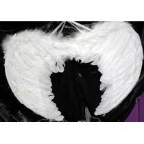 Alas De Angel De Plumas Blancas De 44 X 34 Cm
