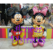 Caminante Globo Metalizado Minnie / Mickey - 1,35 Mts