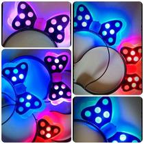 Vincha Minnie Moño Lunares Cotillón Led Luminoso Fiesta X10