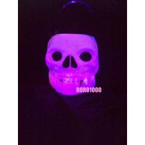 Halloween Calavera Caramelera Y Con Luz Led