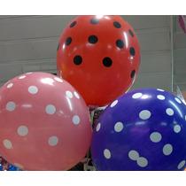 Globos Lunares Rosa, Rojo, Negro, X 20 Unidades! Envios!