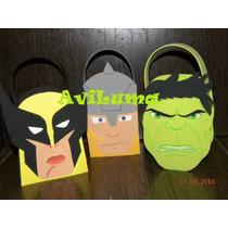 Bolsitas Dulceras De Thor, Wolverine Y Hulk