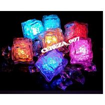 Cubitos De Hielo X 12 Con Luces Led Multicolor Cotillon Fies