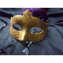 Combo 20 Antifaz Mascara Veneciana Gibre Y Estrellitas Pack
