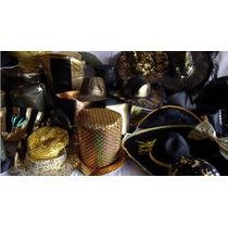 Cotillon Combo Gorros Y Sombreros Especiales Negro Dorado