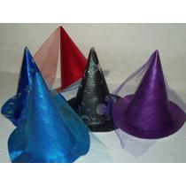 Sombreros De Bruja/hada/mago De Cotillón - Pack X 10