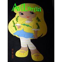 Figuras Planas De Frutillitas, Sus Amigas 60 Cm Y Mascotas