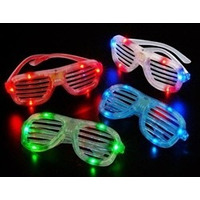 Anteojos Gafas Flogger Luminosos Led Vinchas Cotillon X10!!!