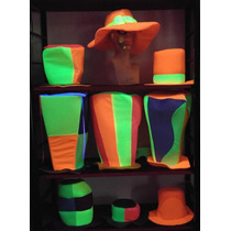 Combo Sombreros Gorros Especiales Cotillón Carioca Fluo X 12