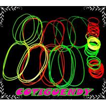 48 Pulseras Y 24 Collares Fluorescentes (cotillón Carioca)