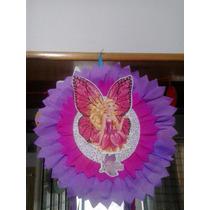 Piñata,cumpleaños, Cotillon, Barbie Mariposa