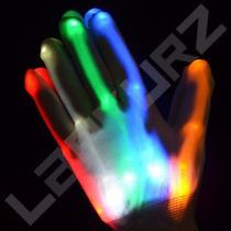 1 (un) Guante Con Tendones Multicolor Led Cotillon Luminoso