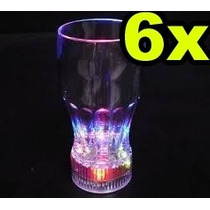 6 Vasos Led Luminoso Cotillon, Laser